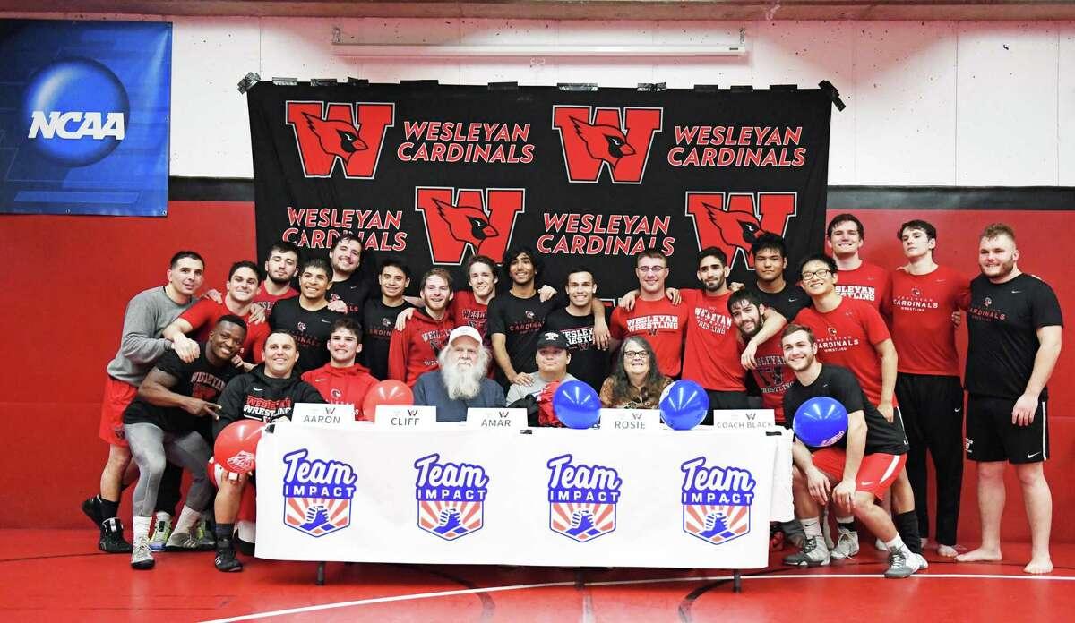 The Wesleyan University wrestling team