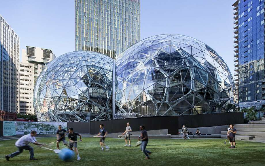 Amazon's pilot program will be available to many of the company's nearly 54,000 Seattle-area employees and their families. Photo: Steve Ringman / Seattle Times 2017