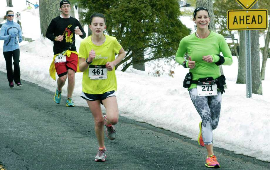 Runners participate in the 30th edition of the Polar Bear Run around Lake Waramaug, Feb. 23, 2014. Photo: Norm Cummings / Norm Cummings / The News-Times