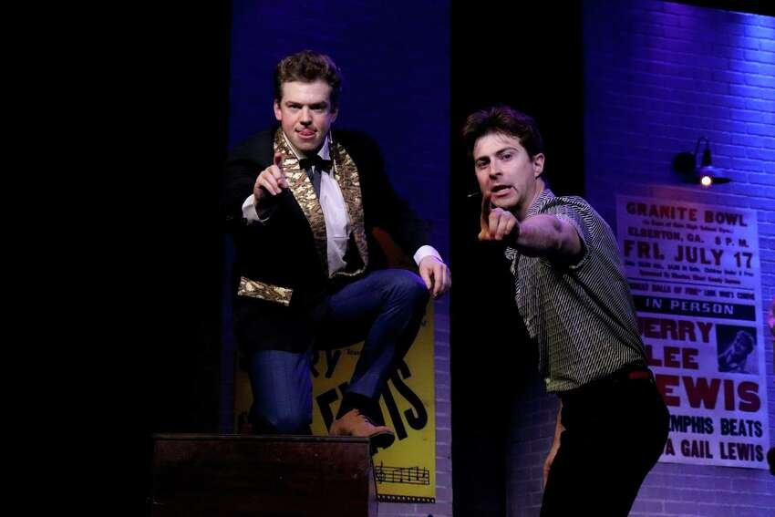 Jefferson McDonald as Jerry Lee Lewis, left, and Sean McGibbon as The Killer in