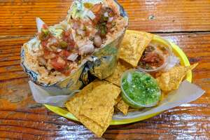 The vegetarian burrito from Taqueria Cancun.
