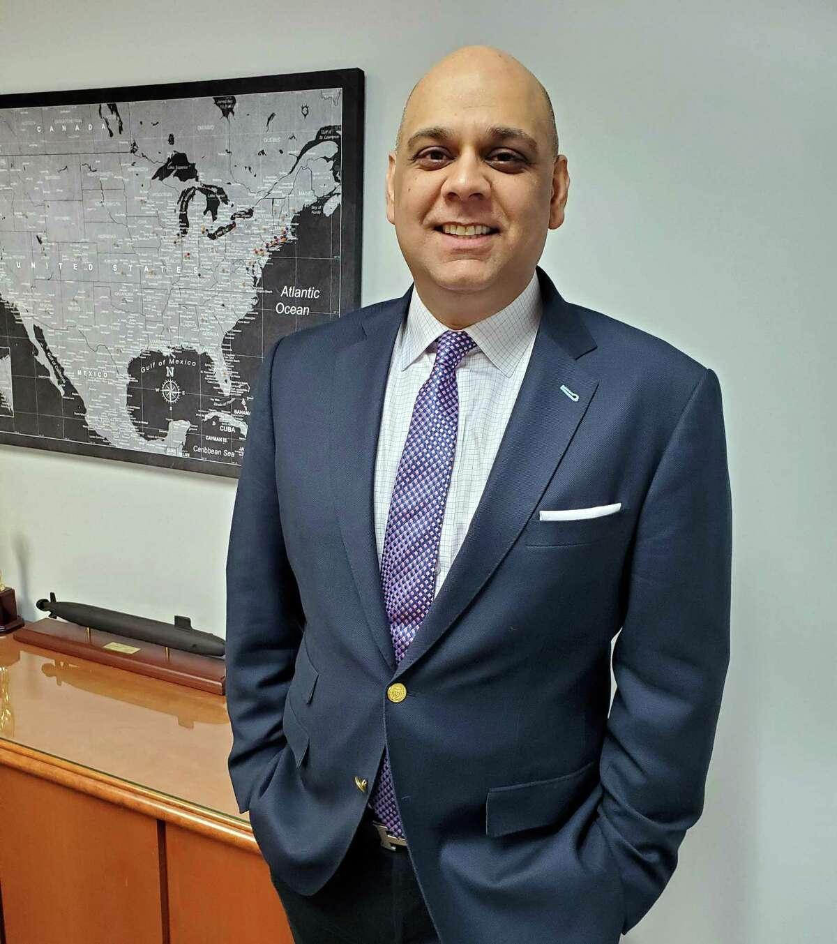 Manoj Wadhwani, president of Shelton-based Saisystems International.