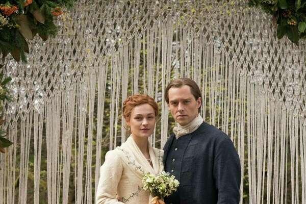 "Sophie Skelton and Richard Rankin in the Starz series, ""Outlander."" (Aimee Spinks/Starz Entertainment/TNS)"