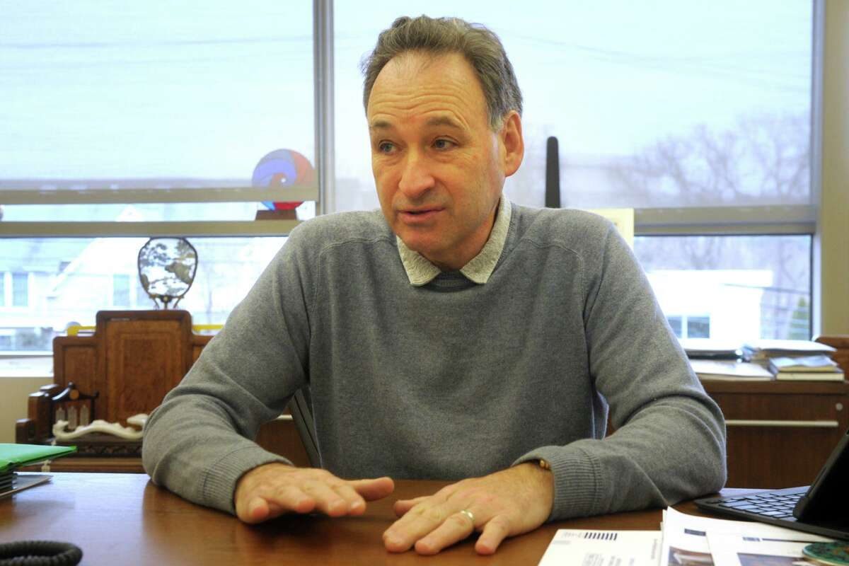 Harlan Stone, Chief Executive Officer of HMTX Industries, speaks during an interview in the company's Norwalk, Conn. headquarters Feb. 18, 2020.