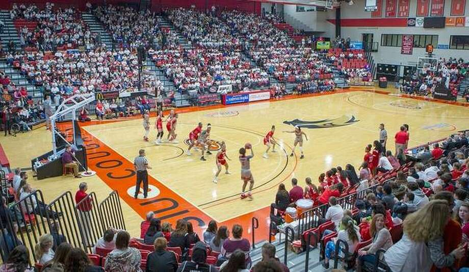 Over 3,000 students filled the stands for the annual Education Day game between the SIUE Cougars and Austin Peay on Thursday. Photo: SIUE Athletics