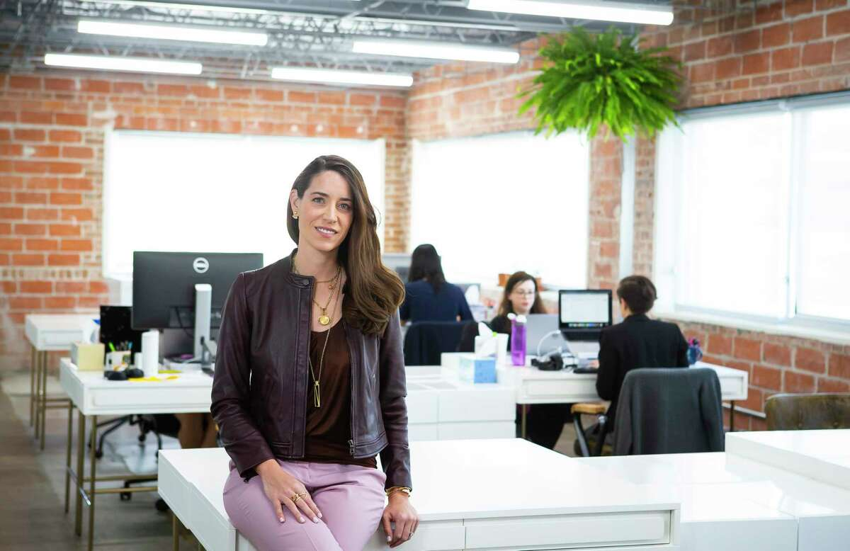 Carolyn Rodz, founder and CEO of Alice, a company that seeks to help small businesses grow by matching them with business opportunities, Thursday, Feb. 13, 2020, inside their Houston office.