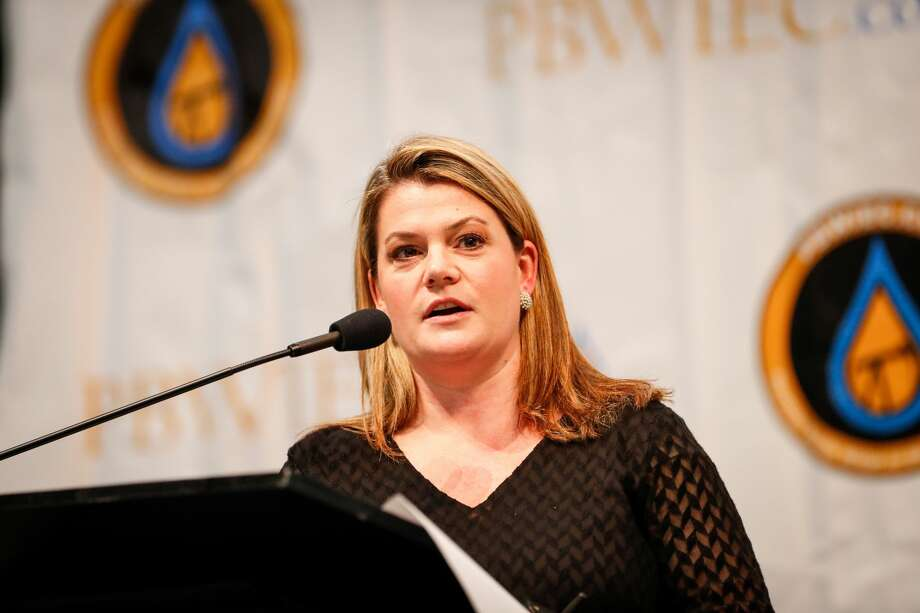 Emily Lindley, Commissioner, Texas Commission on Environmental Equality, speaks during the third annual Permian Basin Water In Energy Conference February 19, 2020, at Horseshoe Arena in Midland. MANDATORY CREDIT: The Oilfield Photographer, Inc. Photo: The Oilfield Photographer Inc./The Oilfield Photographer, Inc.
