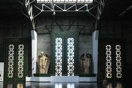 Statues inside the Palace of Fine Arts, which is now run as an events venue by Non Plus Ultra in San Francisco on Thursday, Feb. 20, 2020.