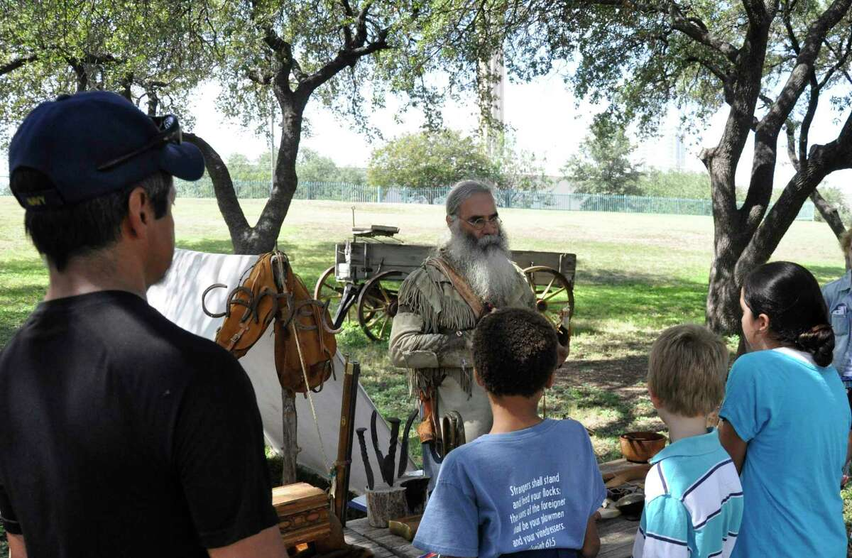 Kids can experience what life was like 200 years ago at the Institute of Texan Cultures.