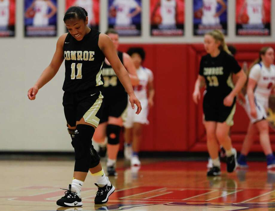 In this file photo, Conroe point guard Kennedy Powell (11) reacts after a turnover during the second quarter of a District 15-6A high school basketball game at Oak Ridge High School, Tuesday, Feb. 11, 2020, in Oak Ridge. Photo: Jason Fochtman, Houston Chronicle / Staff Photographer / Houston Chronicle © 2020