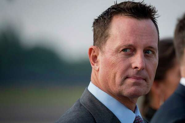 (FILES) In this file photo taken on May 31, 2019 US ambassador to Germany Richard Grenell awaits the arrival of US Secretary of State at Tegel airport in Berlin. - President Donald Trump's administration insisted on February 20,2020 that new US intelligence chief Richard Grenell would serve without a partisan agenda as Democrats voiced outrage at placing the voluble Trump defender in the key post. Grenell, the ambassador to Germany where his blunt criticism of the government irritated the close ally, was named late Wednesday by Trump as acting director of national intelligence. (Photo by Odd ANDERSEN / AFP) (Photo by ODD ANDERSEN/AFP via Getty Images)