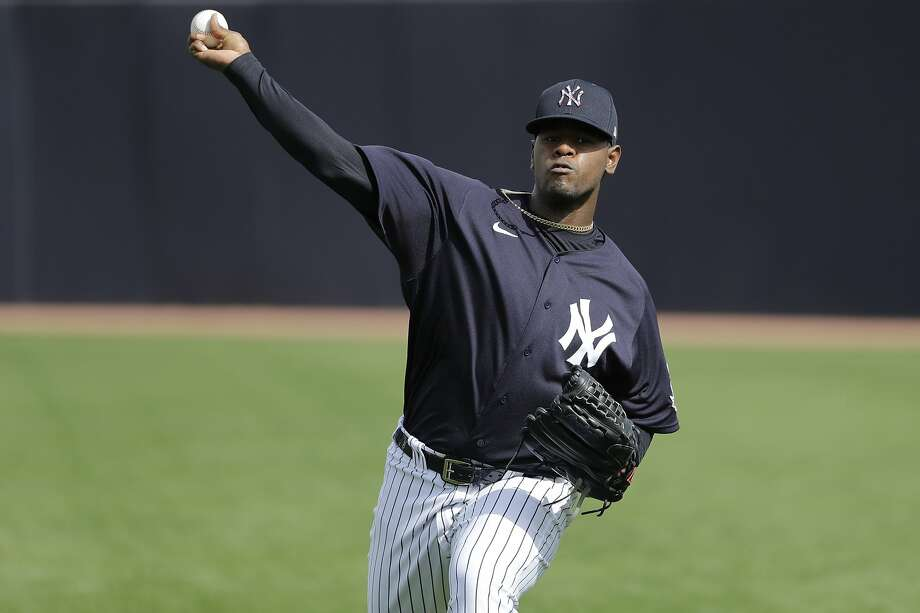 Right-hander Luis Severino was expected to be a key member of the Yankees' rotation, but forearm soreness that developed late last season has shut him down this spring. Photo: Frank Franklin II / Associated Press