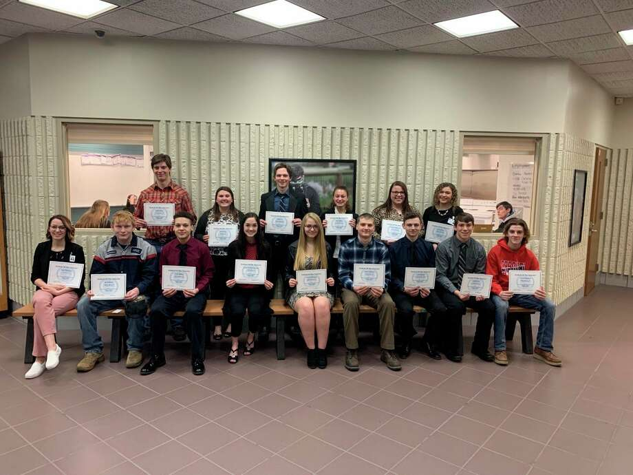 Pictured are students being recognized from thecareer center'smorning session.(Courtesy photo)