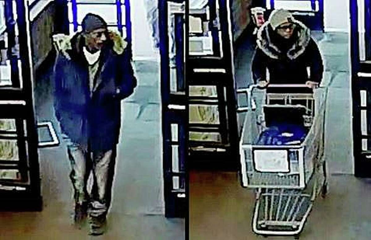 Branford police are looking for two suspects who stole groceries from Stop & Shop on Sunday, Feb. 16, 2020.