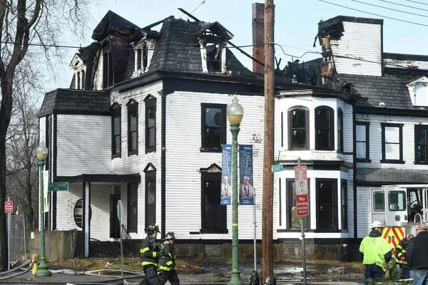 The third floor of a building at 1303 Chapel Street in New Haven sustained heavy damage from a fire on Christmas morning December 25, 2019. The home under renovation was the former home of Walter Camp and recently sold for $1.2 million on November 19, 2019.