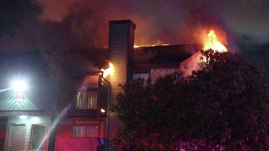 San Antonio firefighters battled multiple blazes across the city Friday morning. Photo: Ken Branca
