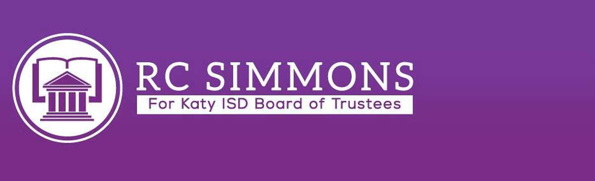 This image shows R.C. Simmon's election banner in its original form. It was later defaced to show a racist image and the N-word.