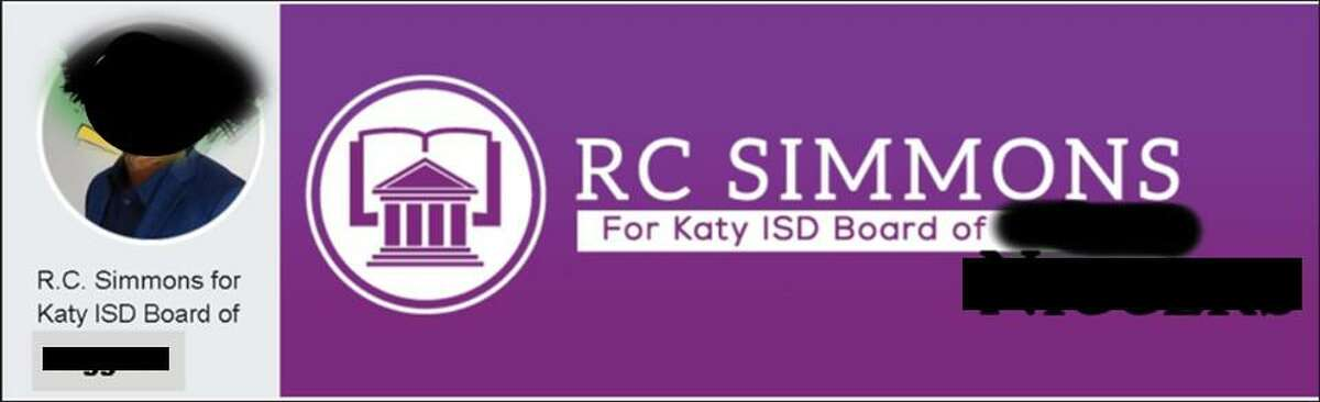 R.C. Simmons received an anonymous email containing this defaced image of his campaign banner. The Katy Rancher has blacked out the N-word and a racist cartoon depiction of Simmons for this story.
