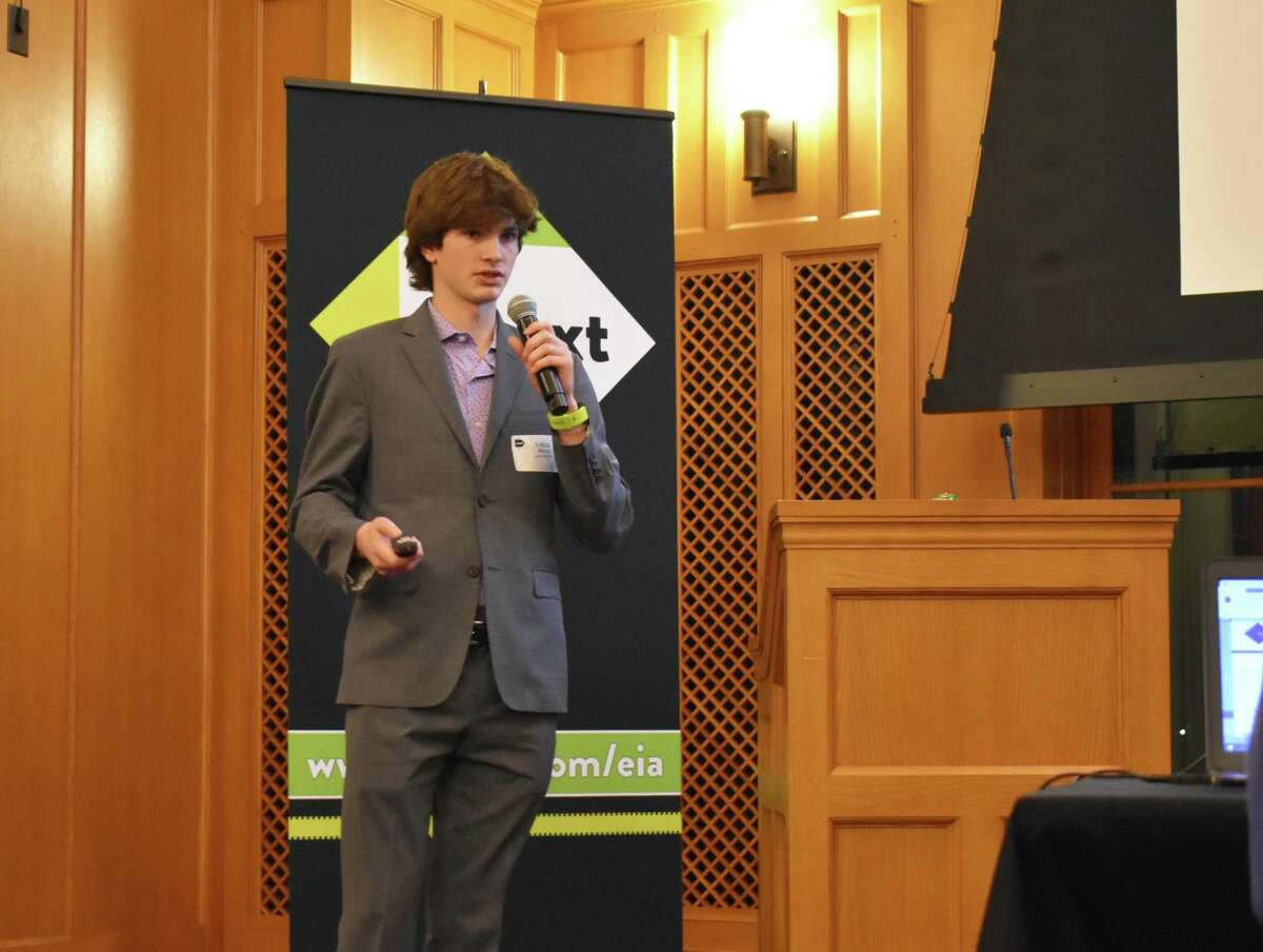 Lucca Ventures founder Lucca Riccio on Thursday, Feb. 20, 2020, at the CTNext Entrepreneur Innovation Awards competition in New Haven, Conn.
