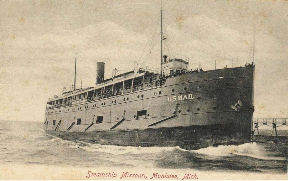 The Steamship Missouri was one of many steamers that brought passengers to the port of Manistee in the 1890s.