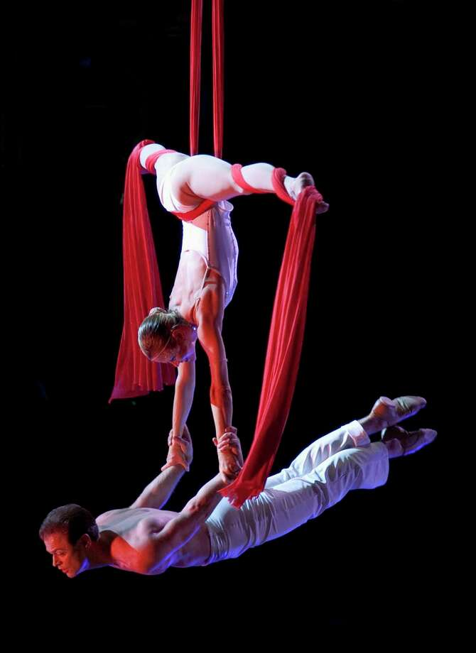 Greater Connecticut Youth Orchestras and Cirque de la Symphonie will team for two performances at Bridgeport's Klein Memorial Auditorium, with the musicians accompanying the aerialists, contortionists, jesters, dancers, and strongmen of the Athens, Georgia-based touring troupe. Photo: Michael Zirkle / Contributed Photo / Michael Zirkle