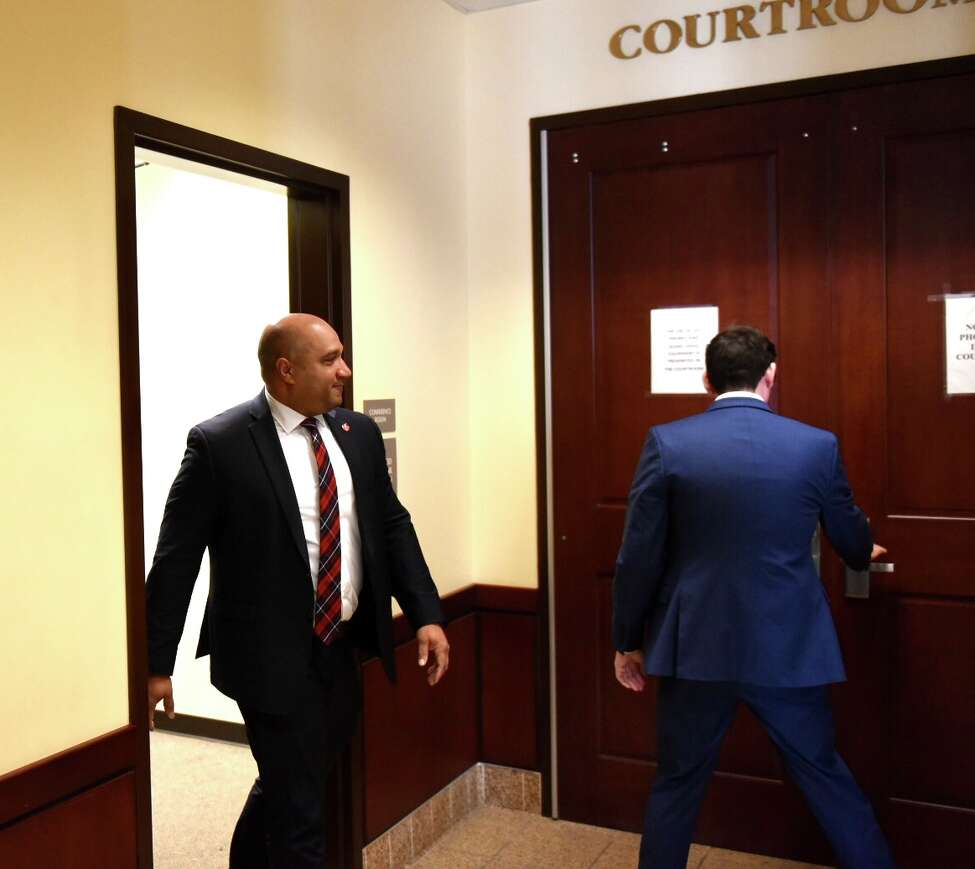 Albany County District Attorney David Soares heads to court Friday. He and five of his staffers will begin taking the stand Friday at a hearing being held to determine if the trial of a double murderer Edward Mero's was tainted by outside work a prosecutor did for his attorney.