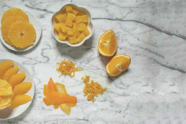 Different preparations of an orange
