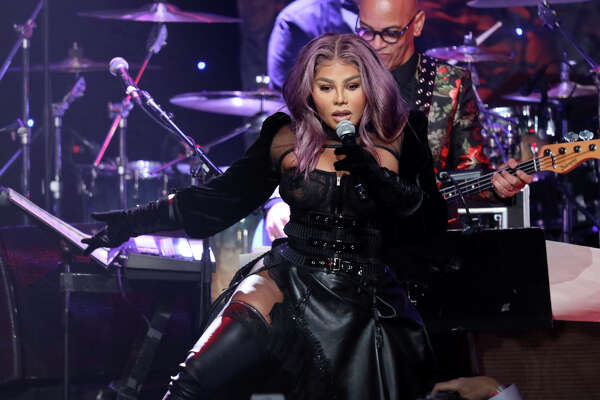 Lil' Kim performs on stage at the Pre-Grammy Gala And Salute To Industry Icons at the Beverly Hilton Hotel on Saturday, Jan. 25, 2020, in Beverly Hills, Calif. (Photo by Willy Sanjuan/Invision/AP)