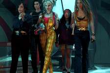 "This image released by Warner Bros. Pictures shows, from left, Rosie Perez, Mary Elizabeth Winstead, Margot Robbie, Ella Jay Basco and Jurnee Smollett-Bell in a scene from ""Birds of Prey."" (Claudette Barius/Warner Bros. Pictures via AP)"
