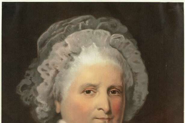 "Mariann Millard, a former licensed Washington, D.C., tour guide, will be presenting ""First Ladies: An Adventure in Glamour, Guts & Gumption"" at Newtown's Cyrenius Booth Library on March 8. Pictured is Martha Washington."