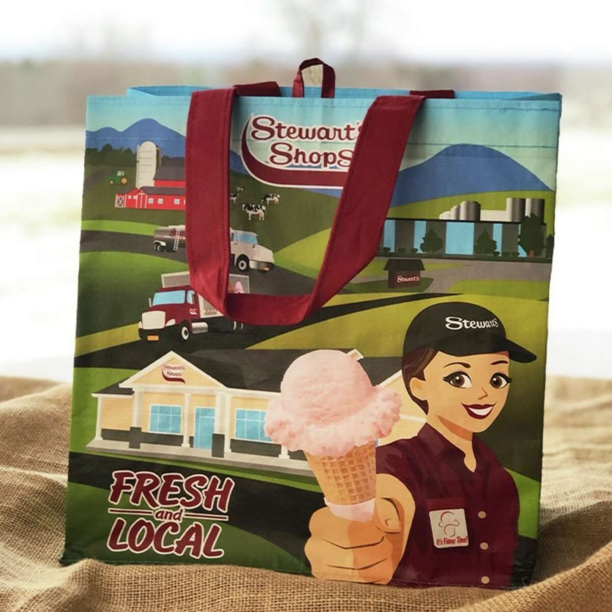 The 99 cent Stewart's Shops bag is being sold now in all stores after New York began its plastic bag ban on March 1, 2020.
