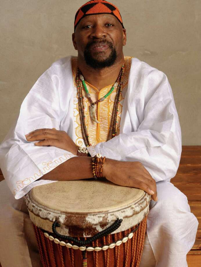 """In recognition of African-American History Month in February, Fort Bend County Libraries' Cinco Ranch Branch Library, 2620 Commercial Center Blvd., in Katy will present a special musical performance of """"African Hand-Drumming"""" on Saturday, Feb. 29, from 2-3 p.m. Enjoy the traditional tribal rhythms and spiritual gifts of West African djembe drumming in a special performance by Gregg """"Jebada"""" Powell, founder and director of the Joy of Djembe Drumming Ensemble. Powell will talk about the history of the instrument and the culture of the people who originally produced it. He will perform a variety of rhythms to demonstrate the influences of different countries and traditions. Powell began playing hand drums in 1964 in the Spanish Harlem neighborhood of Upper Manhattan in New York City, where he grew up. Photo: Debbie Porter / Debbie Porter"""
