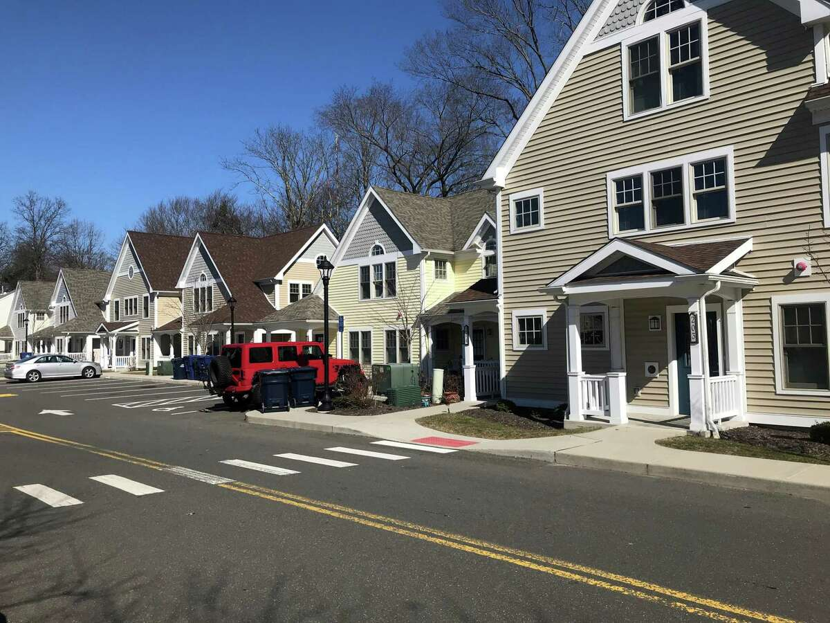 A variety of housing units in Sasco Creek Village. Taken Feb. 21, 2020 in Westport, Conn.