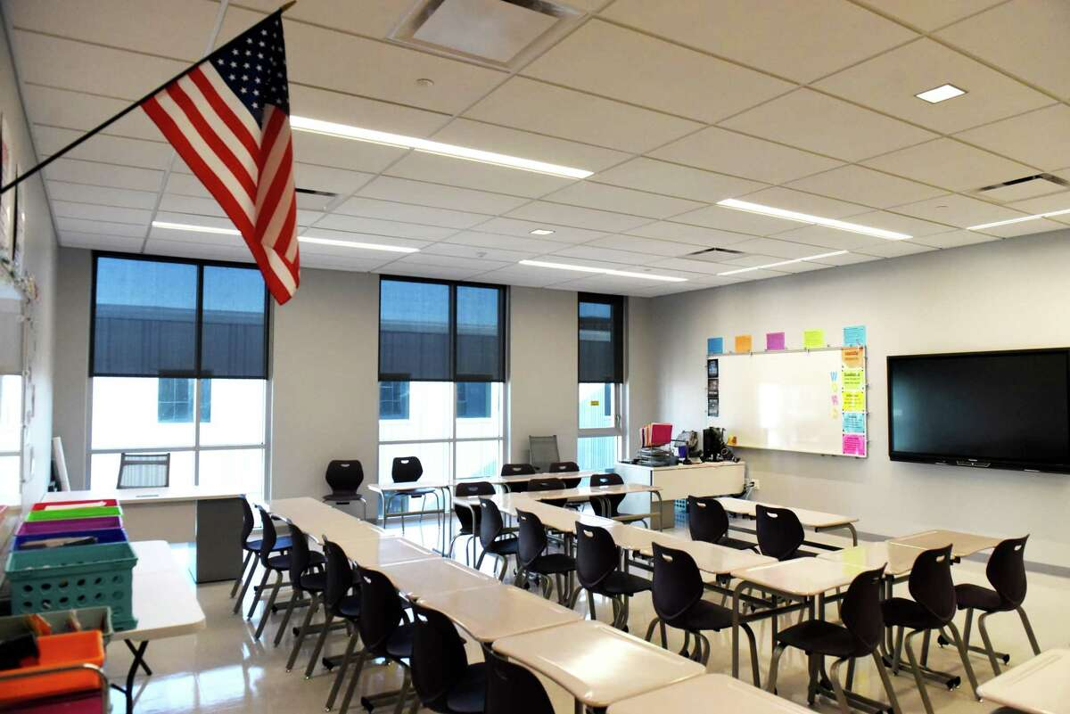 Classroom inside the new Albany High School expansion on Friday, Feb. 21, 2020, in Albany, N.Y. The improvements are part of the first phase of the district?•s $180 million renovation and expansion of the school. (Will Waldron/Times Union)
