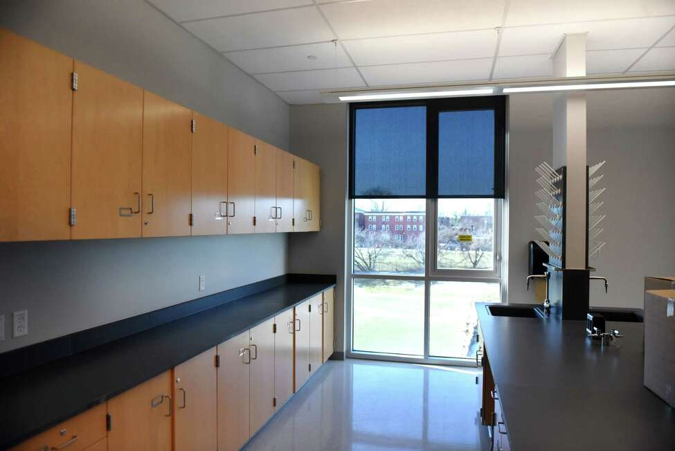 Lab room inside the new Albany High School expansion on Friday, Feb. 21, 2020, in Albany, N.Y. The improvements are part of the first phase of the district?•s $180 million renovation and expansion of the school. (Will Waldron/Times Union)