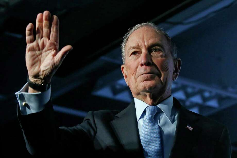 Democratic presidential candidate and former New York City Mayor Mike Bloomberg waves after speaking at a campaign event, Thursday, Feb. 20, 2020, in Salt Lake City. (AP Photo/Rick Bowmer) Photo: Rick Bowmer / Associated Press / Copyright 2020 The Associated Press. All rights reserved