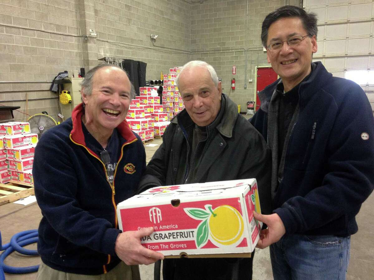 The Wilton Kiwanis Club has extended the ordering deadline for its annual citrus sale. Orders may now be placed through Thursday, Feb. 27. Orders may be placed with a Kiwanis member or online at wiltonkiwanis.org. Pick-up will start on Friday, Feb. 28, from noon to 5; Saturday, Feb. 29, from 9 a.m. to 5 p.m.; and Sunday, March 1, from noon to 5. Citrus may be picked up at 388 Danbury Road, behind the NAPA outlet. From left, Kiwanians David Gortz, Bob Tortorella and Greg Chann show off the goods.