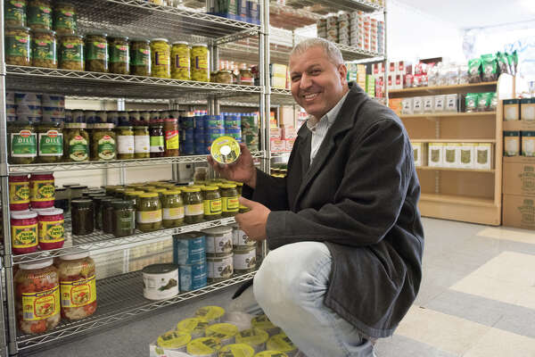 Nabil Fara, one of the new owners of the revamped Halal International and Greek Market, formerly called Greek Imports in Daly City.
