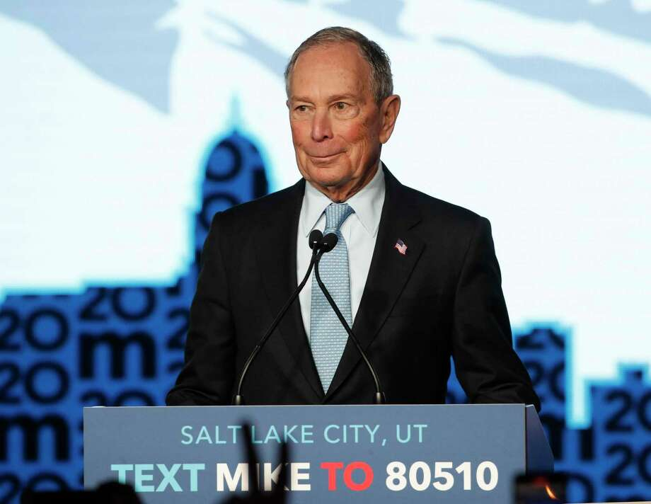 SALT LAKE CITY, UT - FEBRUARY 20: Democratic presidential candidate, former New York City mayor Mike Bloomberg talks to supporters at a rally on February 20, 2020 in Salt Lake City, Utah. Bloomberg is making his second visit to Utah before it votes on super Tuesday March 3rd.(Photo by George Frey/Getty Images) Photo: George Frey / Getty Images / 2020 Getty Images