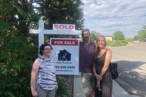 Kelsey Perkins, left, a single mother, was able to become a homeowner by buying a property with friends.