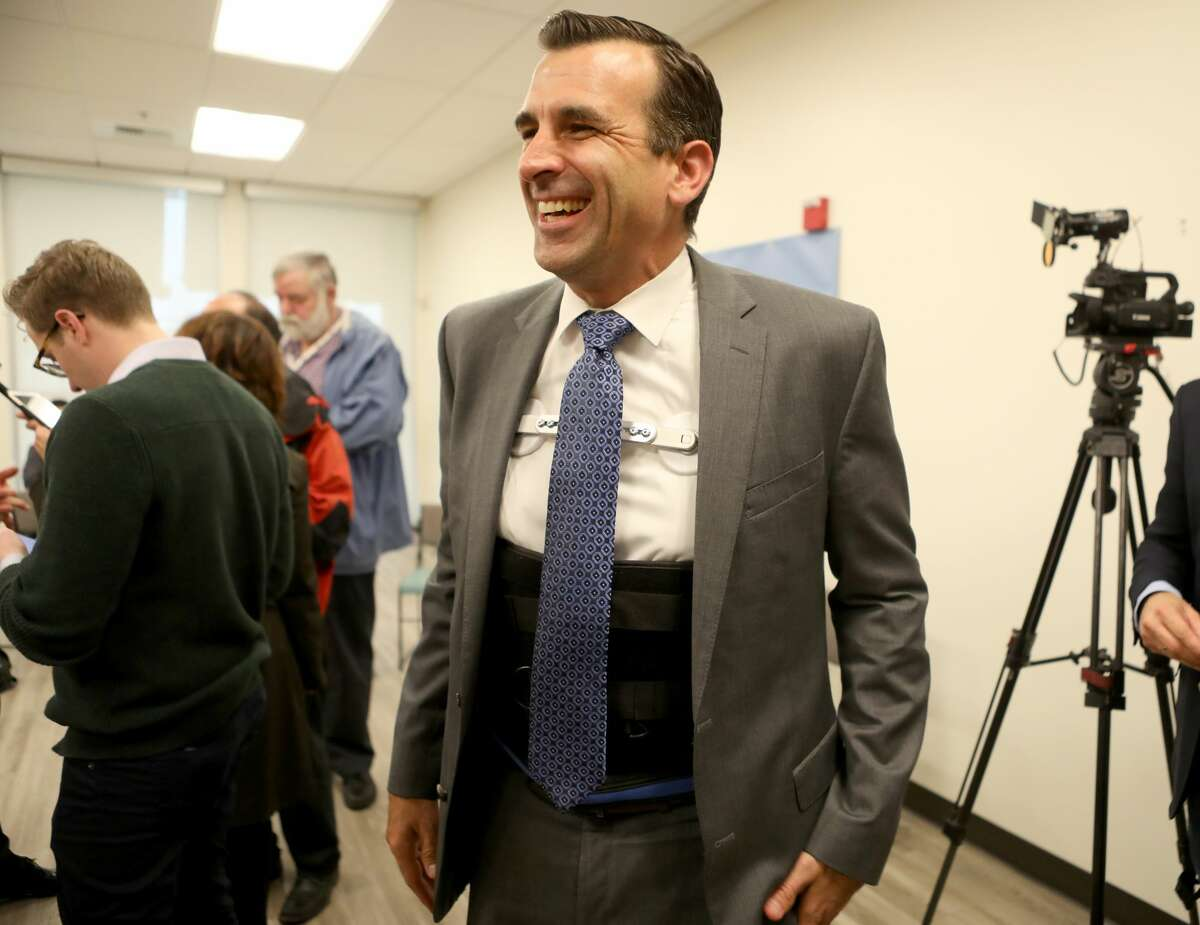 San Jose Mayor Sam Liccardo at the Seven Trees Community Center in San Jose, Calif., on Tuesday, Jan. 15, 2019.