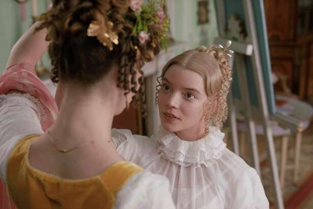 "This undated image provided by Focus Features shows Anya Taylor-Joy as Emma Woodhouse in director Autumn de Wilde's film ""Emma."" (Focus Features via AP)"