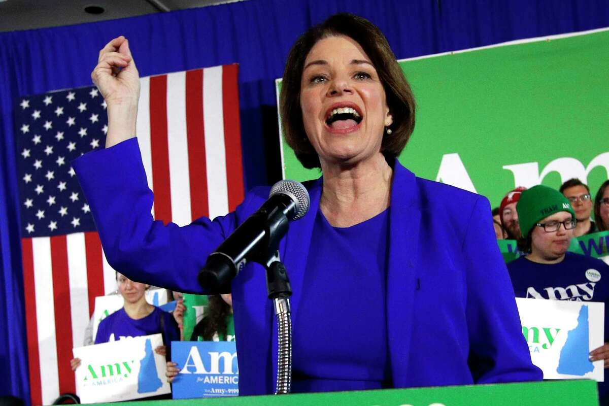 Democratic presidential candidate Sen. Amy Klobuchar, D-Minn., speaks at her election night party in New Hampshire. A reader, who plans to vote for Klobuchar, says more people should vote for whom they see as the best president in 2021, rather than