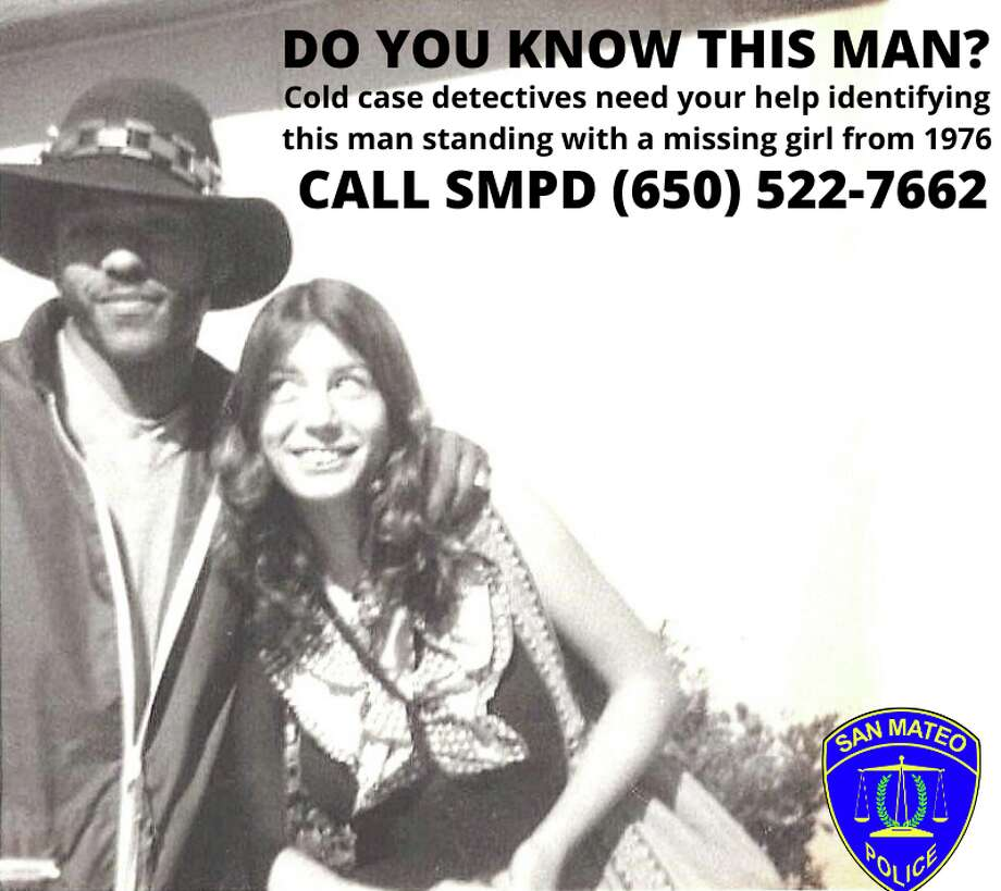 San Mateo police are hoping someone can identify this man, who they say is a person of interest in the disappearance of 17-year-old Sherry Roach (right) in 1976. Photo: San Mateo Police Department