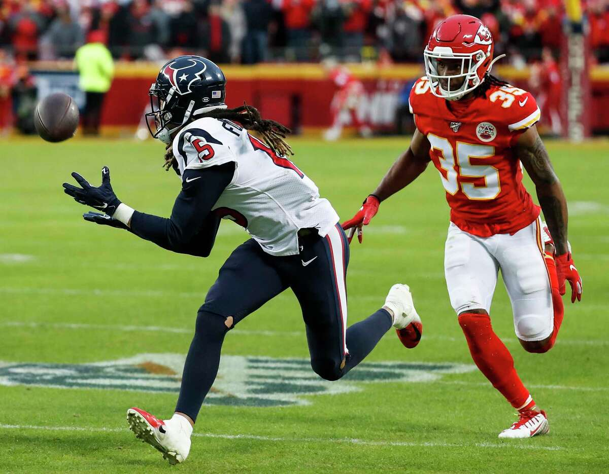 When healthy, Will Fuller has been productive like this catch for a first down against the Chiefs in last season's playoffs.