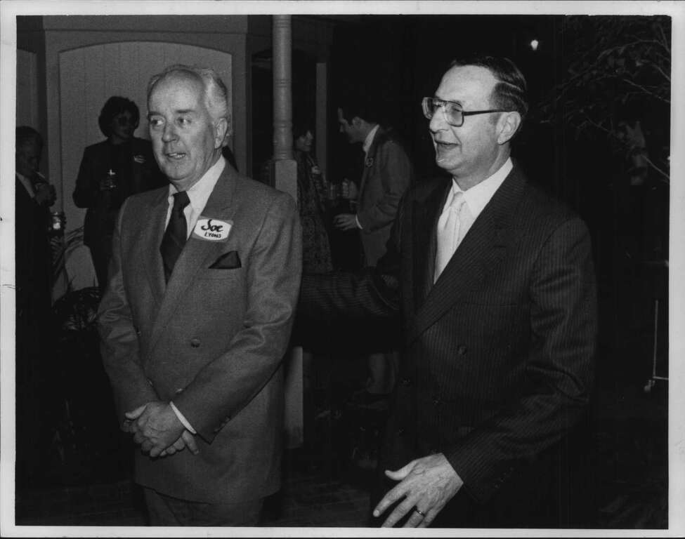 Joseph Lyons with Bob Danzig in New York -. Undated (Times Union Archive)