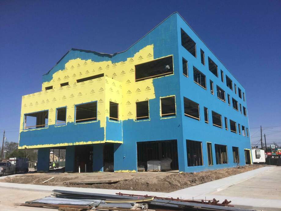 Avenue Center, a community resource center, is under construction at 3517 Irvington Blvd. in Near Northside, Photo: Avenue