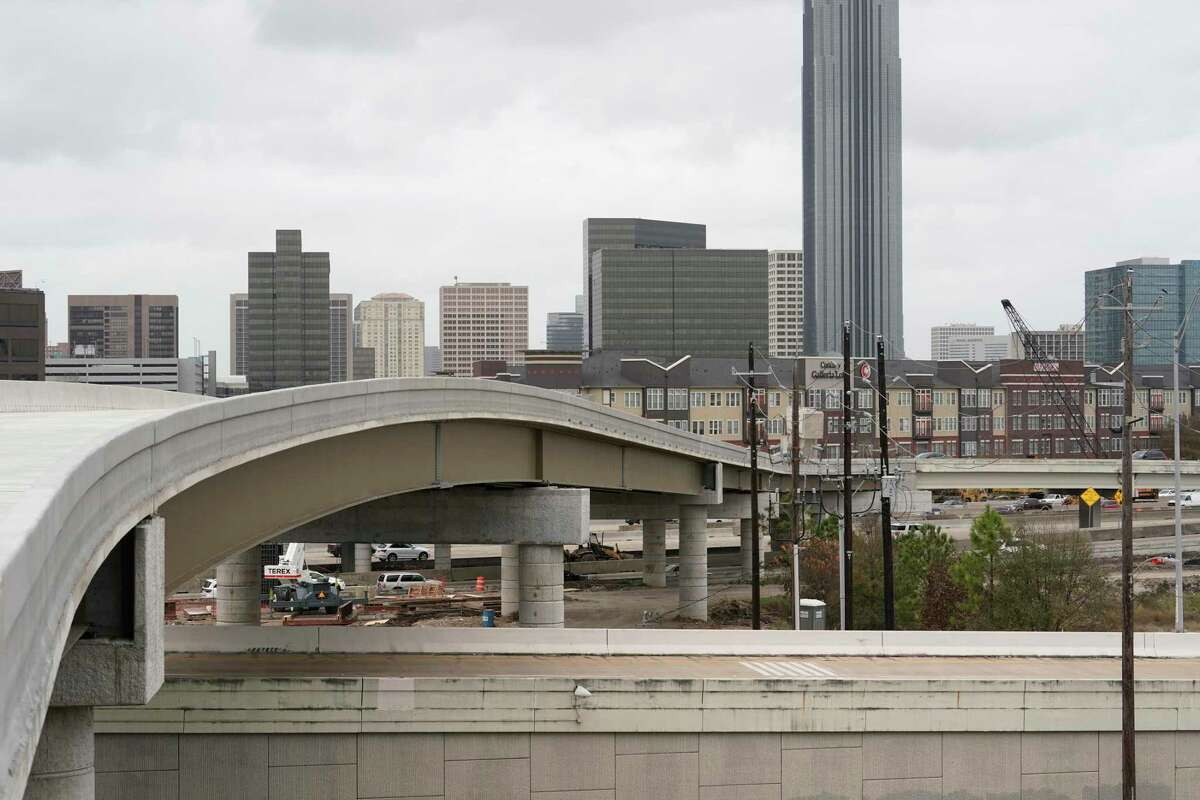 The T-ramp from Interstate 69 to the new Uptown Westpark Transit Center is shown on Jan. 9, 2020, in Houston. The Uptown Westpark Transit Center will be the southern end of the Post Oak bus rapid transit project and link to area park and ride service.