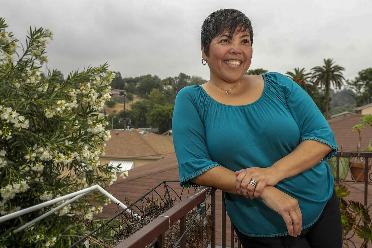 LOS ANGELES CA MAY 25, 2018 -- Lilia Garcia-Brower, executive director of Maintenance Cooperation Trust Fund (MCTF), at her home in Los Angeles. (Irfan Khan / Los Angeles Times)