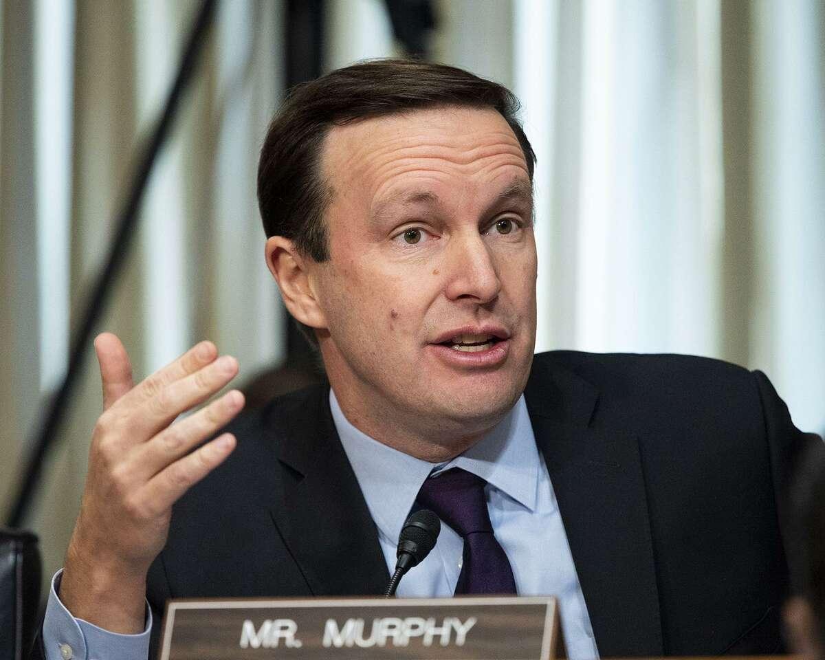 U.S. Sen. Chris Murphy (D-Conn.) at a Senate Foreign Relations Committee hearing on Dec. 3, 2019, Washington, D.C. (Michael Brochstein/Zuma Press/TNS)